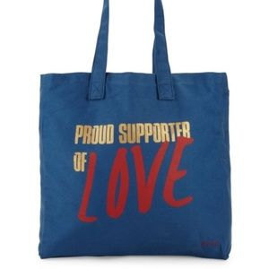 Handbags - Peace Love World Proud Supporter of Love Tote